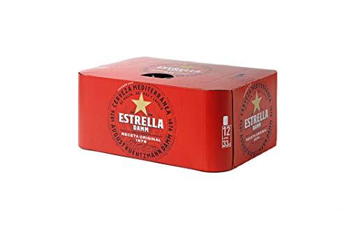 Estrella Damm Cerveza - Pack de 12 Latas 33cl