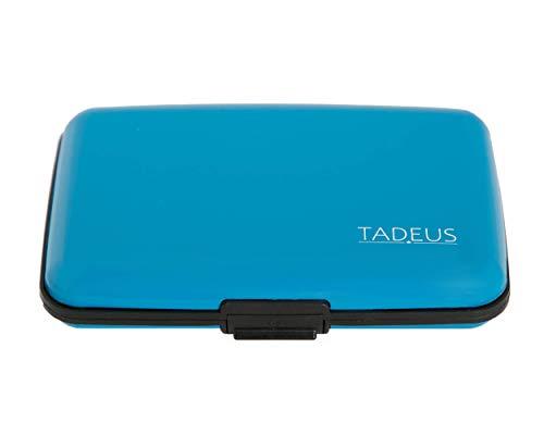 Porte Carte bancaire avec Protection Anti piratage RFID et NFC Contre Le vol de données avec ebook (Blue)