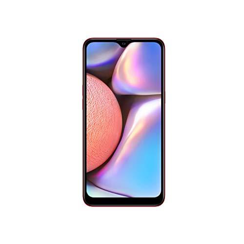 "Samsung Galaxy A10s (32GB, 2GB RAM) 6.2"" HD+ Infinity-V Display, 13MP+2MP Dual Rear Camera+8MP Front Facing Camera- 4G LTE Dual SIM GSM Factory Unlocked A107M/DS (Latin Specs) (RED, Single SIM)"