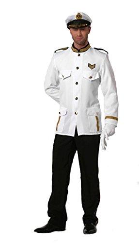 Herren Kostüm Marine Offizier Kapitän Karneval Fasching Gr.52