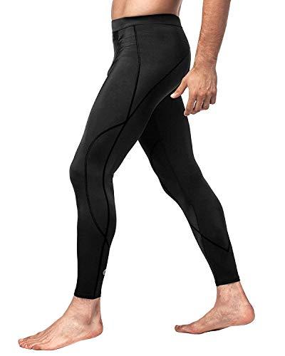 LAPASA Herren Funktionshose Fitness Leggings Kompressionshose Lang Tight UPF 50+ M18