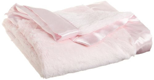 Little Me Baby-Girls Newborn Plush Stroller Blanket, Light Pink, One Size