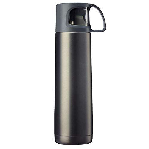 JWR Simple stainless steel vacuum flask, large capacity 730ml, sports outdoor travel, the best choice for people to choose cool gray