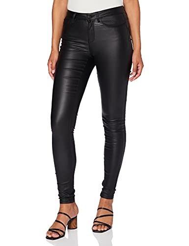 ONLY NOS Onlanne K Mid Waist Coated Jeans Noos, Jeans skinny Donna, Nero (Black), W26/L32 (Talla produttore: XS)