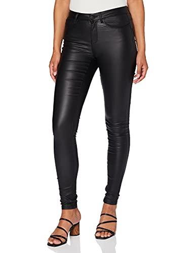 ONLY Damen Onlanne Mid Waist Coated Noos Skinny Jeans, Schwarz (Black), S 30L EU