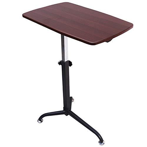 YLCJ Canap bijzettafel voor lui bureau dat kan tillen, kan multifunctionele kleine kantoor verplaatsen (Kleur: kersenhout)