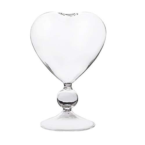 Angoily Copa de Cristal de Cóctel Copa de Vino Decorativa en Forma de Corazón Copa de Vino Champán Copa de Cristal de Vino Tinto para Bar Restaurante en Casa (Transparente)