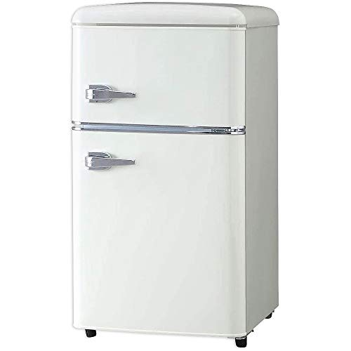 冷蔵庫 81L ノンフロン冷凍冷蔵庫 オフホワイト PRR-082D-W