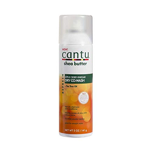 Cantu Apple Cider Vinegar Dry Co-Wash-Refresh-Trockenshampoo mit Shea-Butter und Teebaumöl, Shampoo-Conditioner-Spray, 148 ml