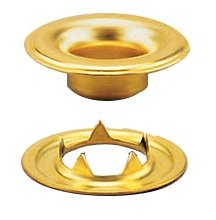 Stimpson 5GTWB1440 Sheet Metal Grommet and Teeth Washer Brass Durable, Reliable, Heavy-Duty #5 Set (1,440 Pieces of Each)