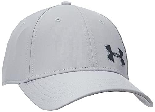 Under Armour Herren Men's Golf Headline 3.0 Herren Kappe mit klassischer Passform Cap integriertem Schwei band, Schwarz (Mod Gray/Pitch Gray (012)), M-L EU