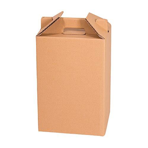 KARTOX | Caja para Vino | Estuche de 4 Botellas de Vino | Caja para Lote de Navidad | Color marrón | 4 Unidades