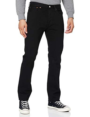 Levi's 501 Original Jeans, Black 80701, 38W / 32L Uomo