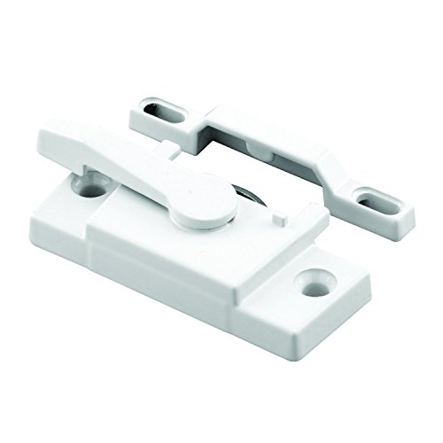 Prime-Line F 2744 Sash Lock, Single Unit, White – Diecast Construction, White Powder Coat w/ Enamel Finish, Designed for both Single & Double Hung Windows