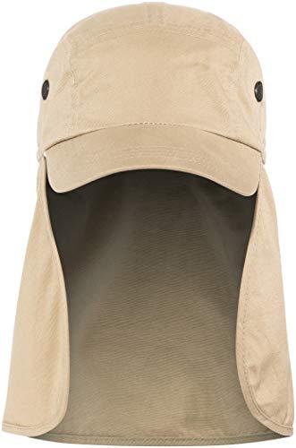 BasicNature Basic Nature Uni Legionärskappe Nackenschutz Baseballkappe, braun, XL