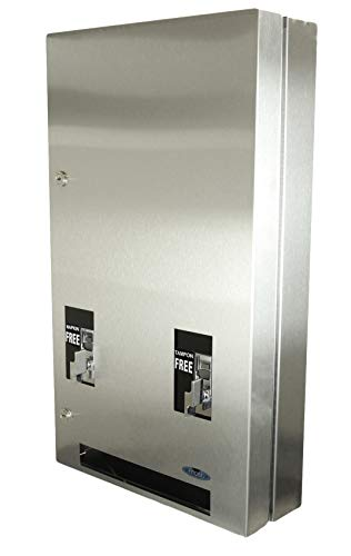 "Frost 608-3-FREE Feminine Napkin and Tampon Vendor, 14.9"" L x 25.4"" H x 5.75"" D, Metallic"