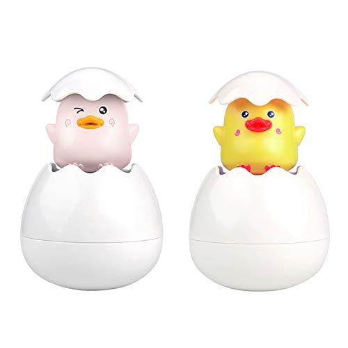 laoonl Juguete de baño de bebé, juguete de baño de pato de bebé rociable de agua, juguetes de huevo para eclosión, juguetes de ducha de agua