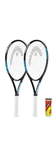 HEAD Ti.Tornado - Raqueta de tenis de titanio (incluye 2 fundas protectoras y 3 pelotas de tenis