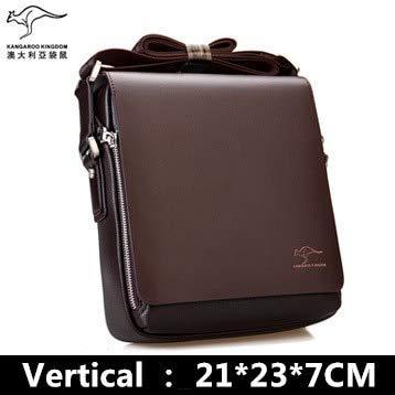Mdsfe Marke Herren Umhängetasche Vintage Leder Umhängetasche Hübsche Umhängetasche Handtaschen Braun 21x23x7cm, a1