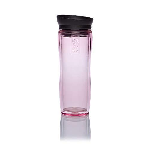 Shuyao Teamaker Tea to Go Thermobecher (360ml) mit integriertem Teesieb (Pink)