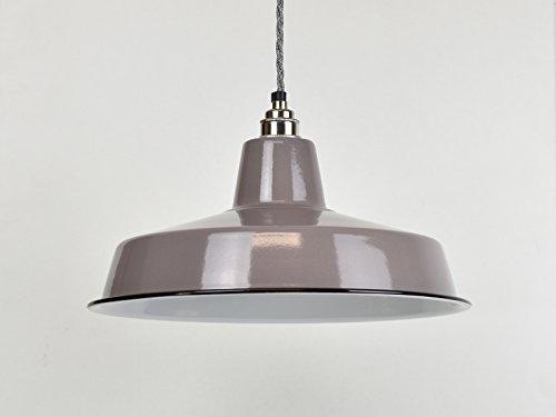 Classic grau große Industrielle Emaille Vintage Factory Lager-Stil Lampe Schatten