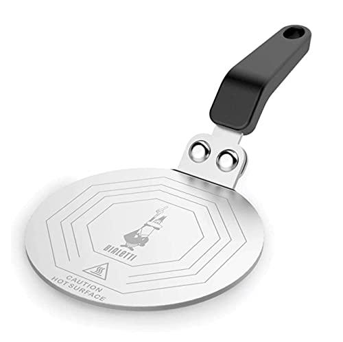 Bialetti DCDESIGN08 Difusores de calor, adaptador para el utilizo de cafeteras y baterías de cocina sobre placas de inducción, Metal, Negro, 13 cm