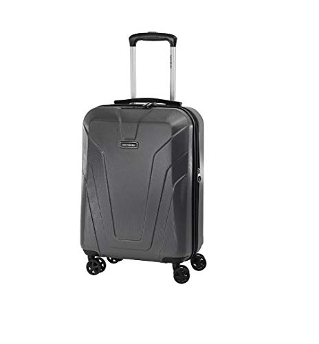 Samsonite Frontier Spinner Unisex Small Black Polycarbonate Luggage Bag TSA Approved Q12009001