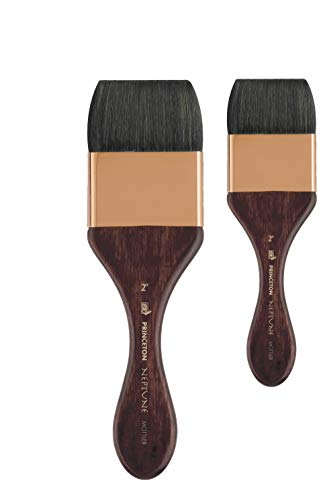 Princeton Artist Brush, Neptune Series 4750, Synthetic Squirrel Watercolor Paint Brush, Mottler, Size 2 Inch