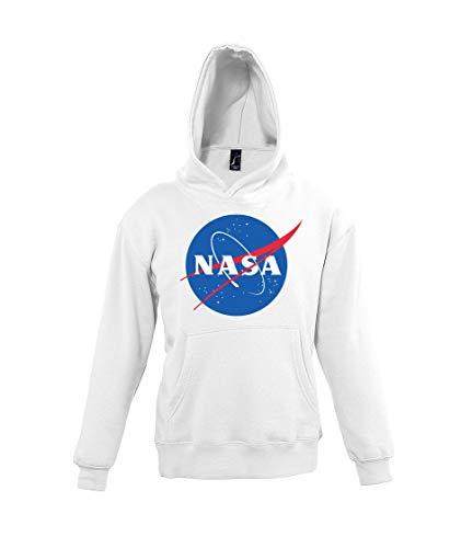 Youth Designz Sudadera con capucha para niños modelo NASA Blanco 12 años