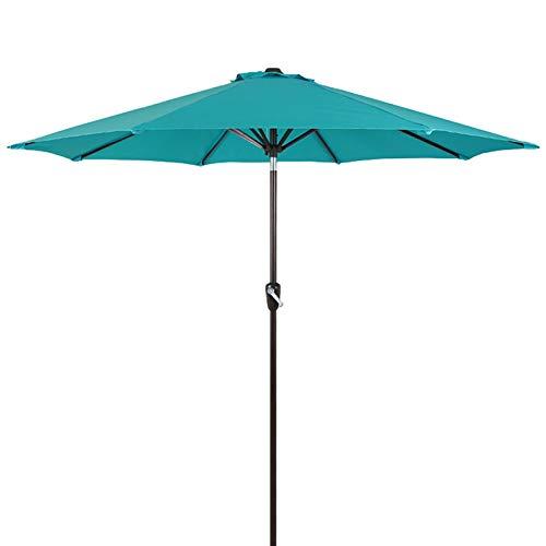 ERLAN Parasol Jardin Los 2.25m Sombrilla de Mesa Exterior con Ventilación, Sombrillas de Patio para Césped Patio Interior Piscina, Botón de Inclinación y Manivela (Color : Blue)