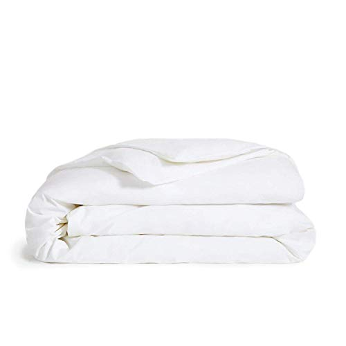 Brooklinen Solid White Luxe Duvet Cover for Full/Queen Size Bed - 100% Long Staple Cotton -...