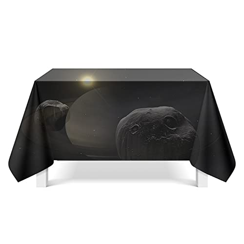 DSman Solid Soft Washable Table Cover for Bridal Shower Wedding Party Restaurant Celestial Art