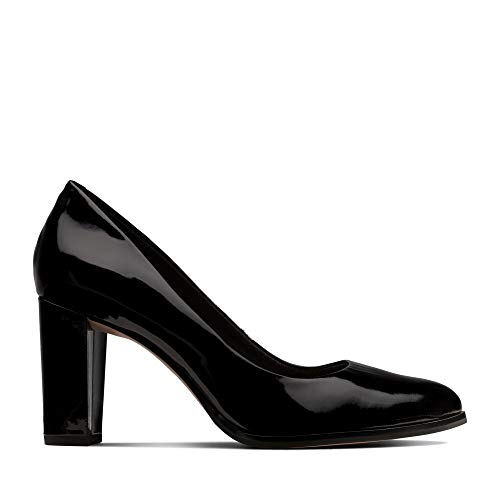 Clarks Kaylin Cara Leather Shoes in Black Patent