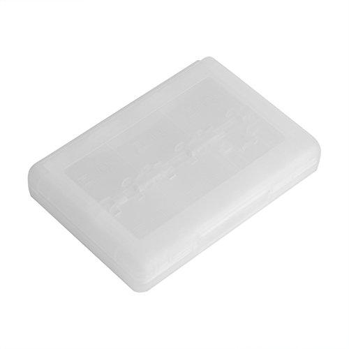 Estuche para Tarjetas de Juego, Wacent 28 en 1 PP Estuche para Tarjetas de Juego de plástico Caja de Almacenamiento para Cartuchos Estuche para Tarjetas de Juego(Blanco)