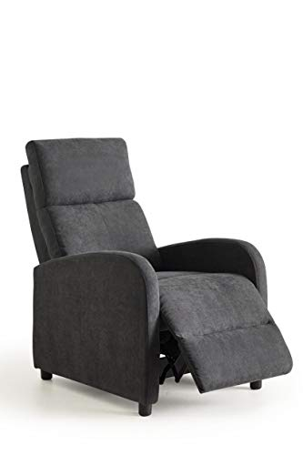 Home Heavenly®- Butaca reclinable, sillón Relax Nexus, cómodo y Compacto para salón, reposapies, Color Gris