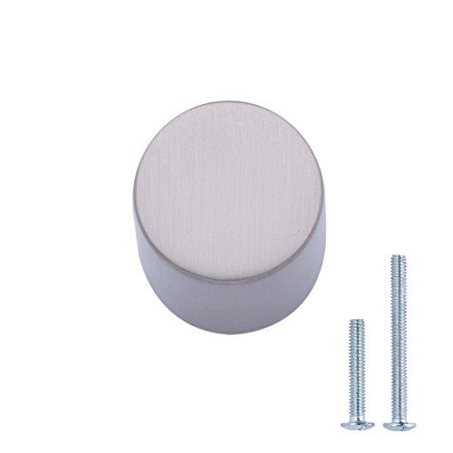 Amazon Basics - Pomolo ovale bombato per mobili, Diametro: 1,9 cm, Nichel satinato, Confezione da 25