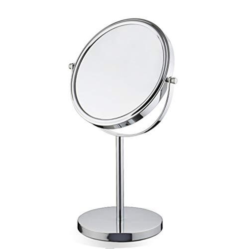 Specchio cosmetico l specchio cosmetico per trucco Espejo para maquillaje Espejo doble giratorio con espejo giratorio de 360 ° Espejo cosmético redondo con paño de limpieza para espejo 6/7/8 pulgada
