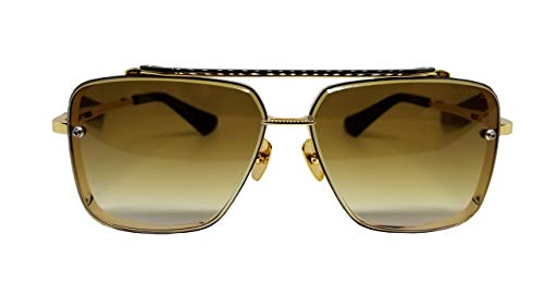 Dita MACH SIX Sunglasses DTS 121 Gold Brushed Frame con lente degradada marrón