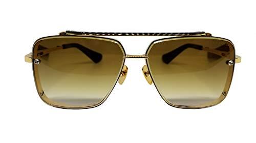 Dita Lunettes de soleil MACH SIX DTS 121 Gold monture brossée avec verres dégradés bruns