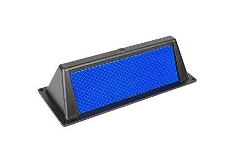 Wildwarnreflektor Wildwarner für Leitpfosten blau Wildschutz Wildunfälle Reflektoren