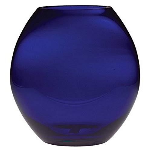 Hochwertiges Glas 20,3cm Majestic Geschenke europäischen handgefertigt Barrel Vase, mittel, Kobalt blau
