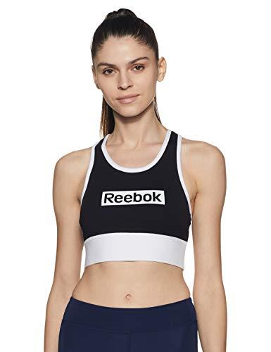 Reebok Te Linear Logo Bralette Sport-BH für Damen XS Schwarz