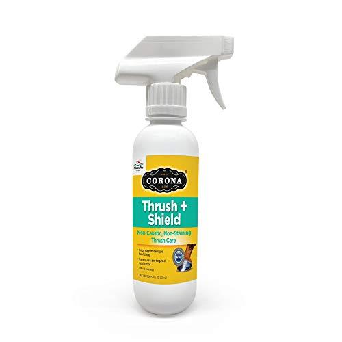 Corona Thrush + Shield Spray | Non-Caustic, Non-Staining Thrush Care for Horses | 8 Fluid Ounces