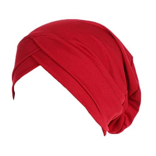 EFINNY Frauen Muslim Hijabs Stretchgewebe Indian Caps Bonnet Bone Chemo Cap
