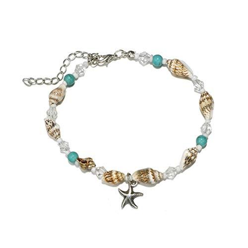 YAZILIND caracola Perlas Calzado Estrella de mar Colgante Shell Boho Pulsera de...