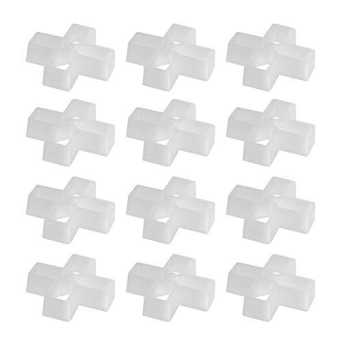 100 x Kreuzförmige Fliesenkreuz, 10 mm Gelenke, Kunststoff, Hohlstruktur, weiß, für Heimwerker, Pflastersteine, Wandfliesen, Gartenplatten, leicht, tragbar, langlebig