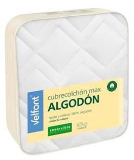 Velfont VELAMEN - Cubrecolchon MAX Algodón Reversible 105x200