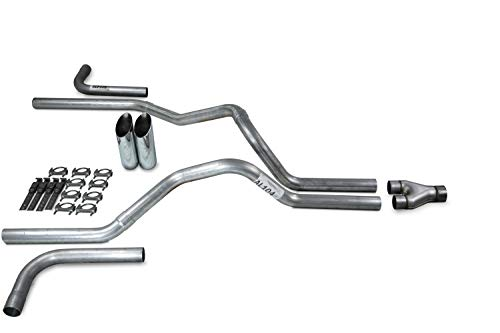 Truck Exhaust Kits - Shop Line Dual Exhaust Sytem 2.5 inch Aluminized Pipe Y...