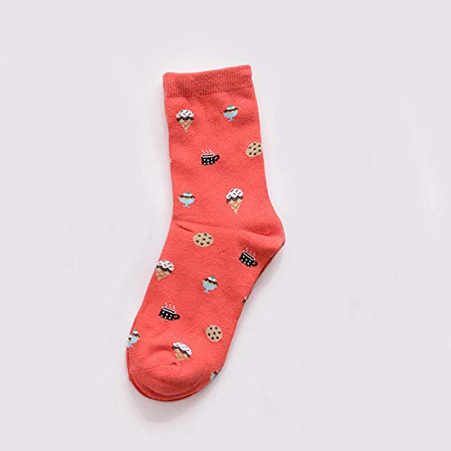 ODMKGE Socken Sushi-Frucht-Krapfen-Eiscreme-Sandwich-Lustige Socken-Nahrung Der Frauen 1 Satz 5 Paare