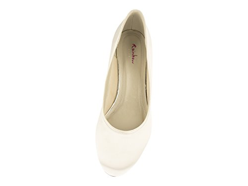 Rainbow Club Brautschuhe Paula – Ivory Satin – Pumps - 4